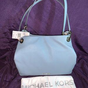 Michael Kors Raven Large Shoulder Bag Powder Blue